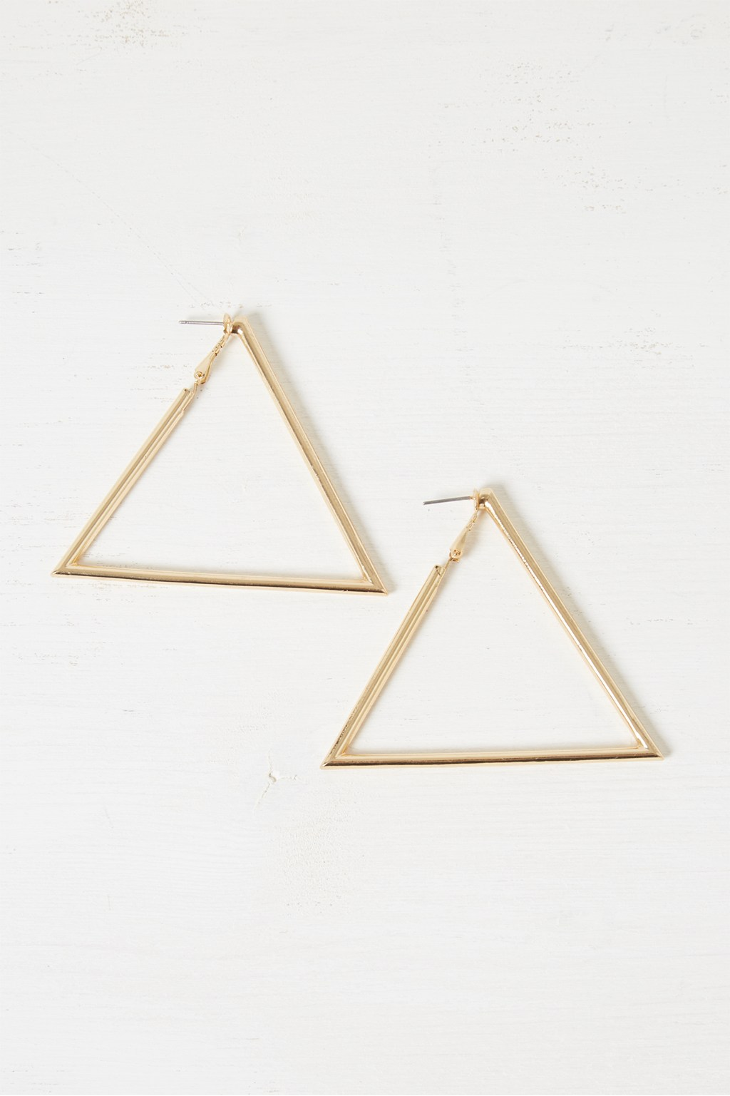 8e787a10025ed Chunky Geo Triangle Earrings