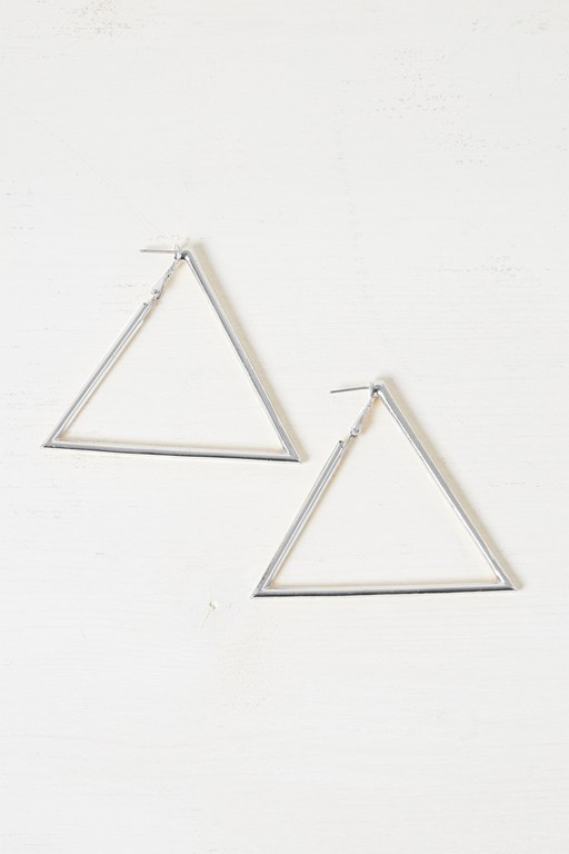 Complete the Look Chunky Geo Triangle Earrings