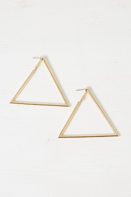 Chunky Geo Triangle Earrings