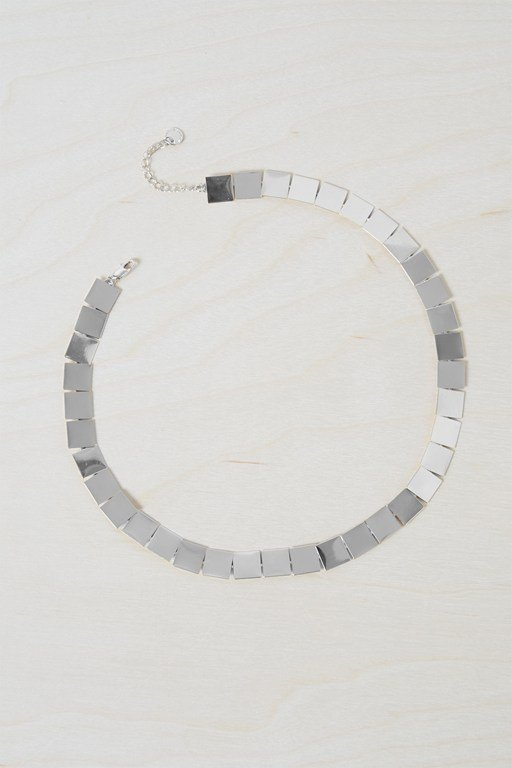 geo square necklace