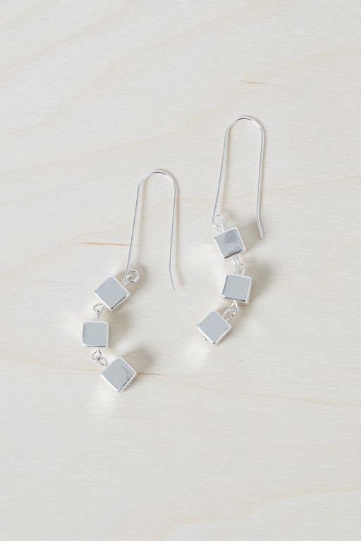 Complete the Look Geo Square Earrings
