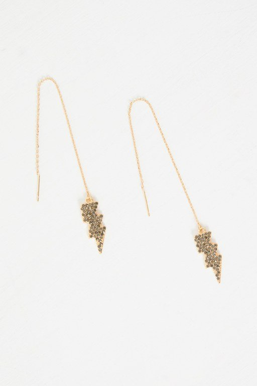 Complete the Look Electric Drop Chain Earrings