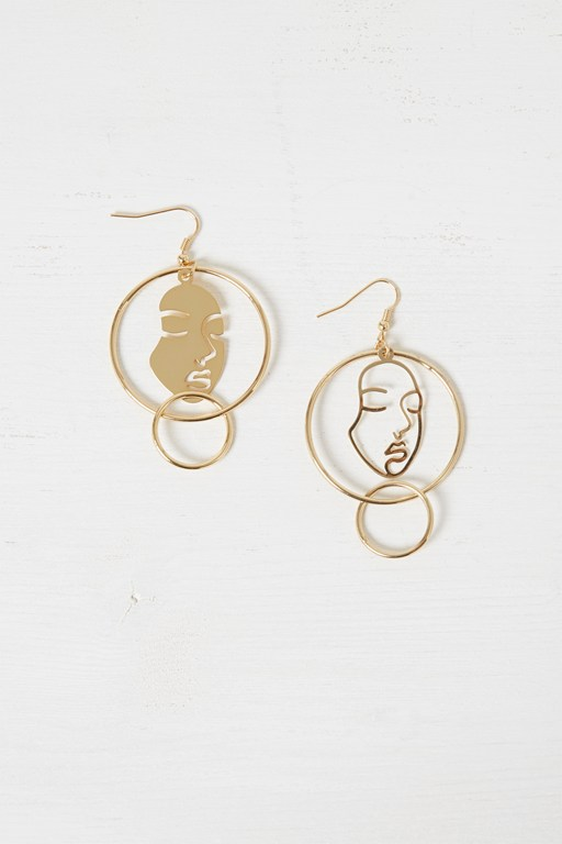 Complete the Look Mismatch Faces Earrings