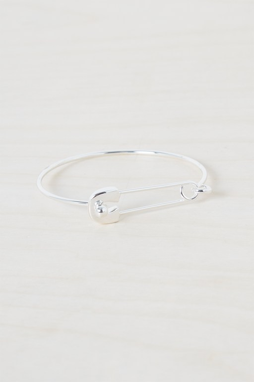 statement safety pin bracelet