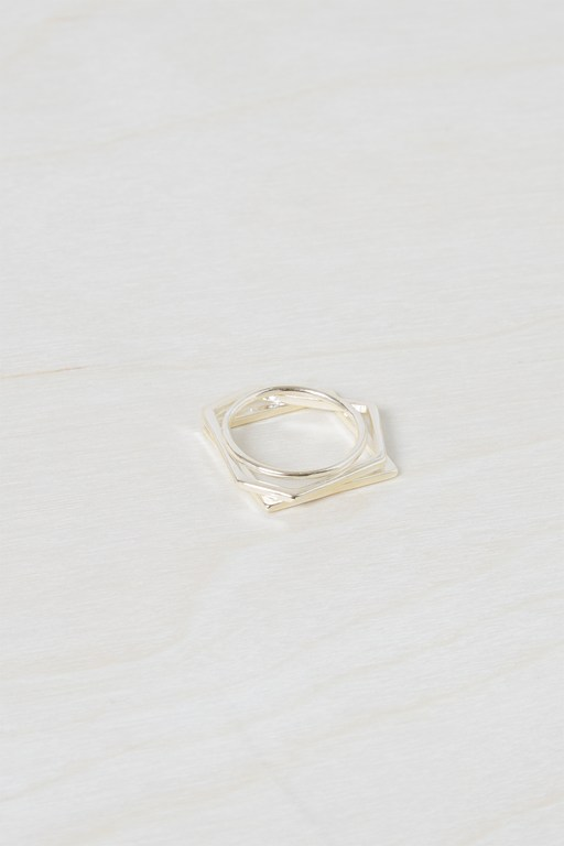 chunky geo stacked rings