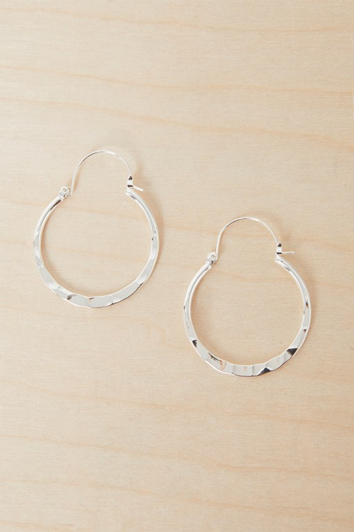 Complete the Look Textured Small Hoop Earrings