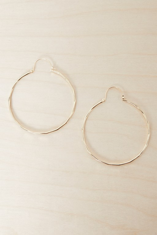 Complete the Look Textured Large Hoop Earrings