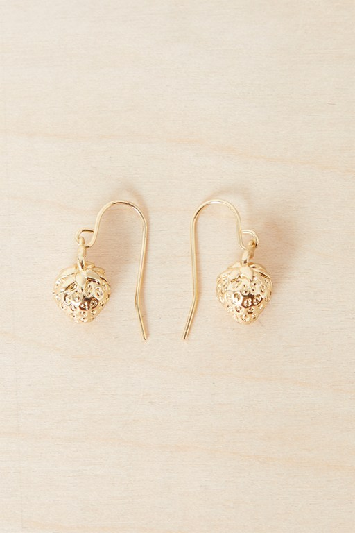 Complete the Look Strawberry Mini Drop Earrings