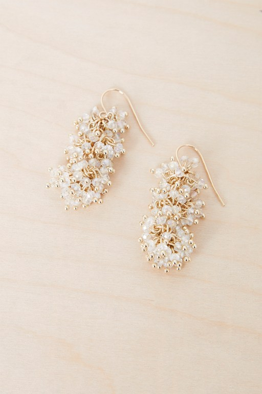 bead cluster drop earrings