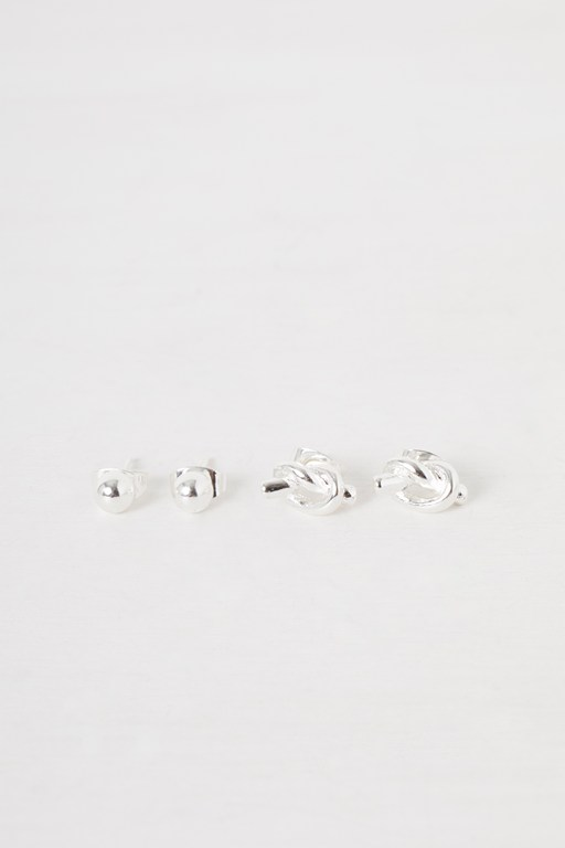 Complete the Look Mini Knot and Stud Earrings