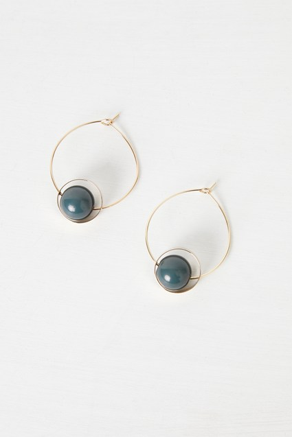 Resin Sphere Earring