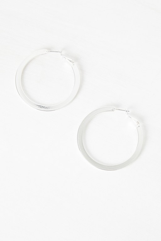 Complete the Look Flat Hoop Earrings