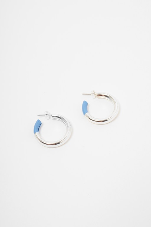 Complete the Look Core Hoop Enamel Earrings