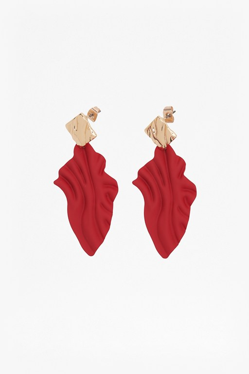 enamel flame earrings