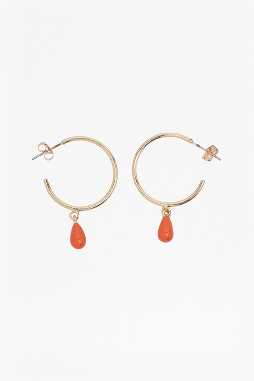 Complete the Look Neon Teardrop Hoop Earrings