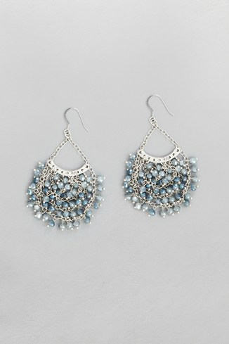 Sparkle Bead Drape Earrings