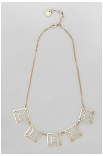 Graphic Geo Square Collar Necklace