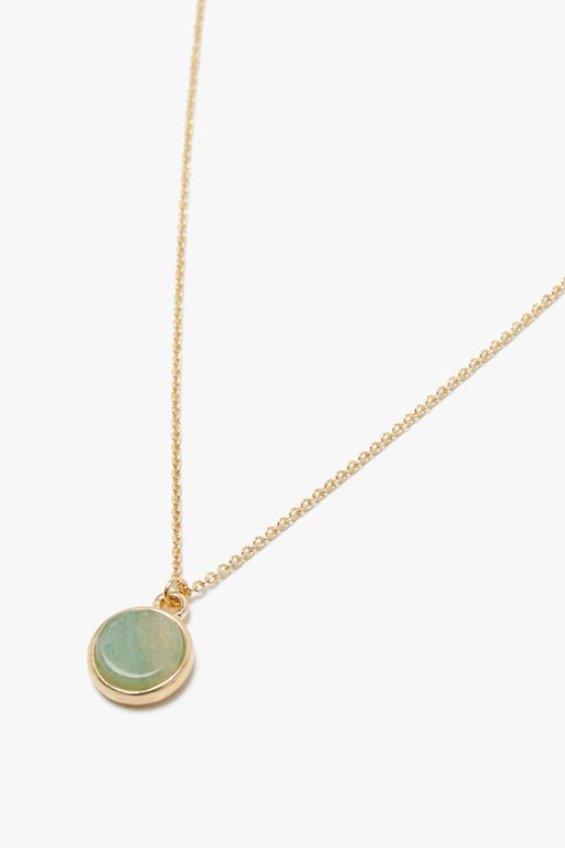 semi precious disc necklace