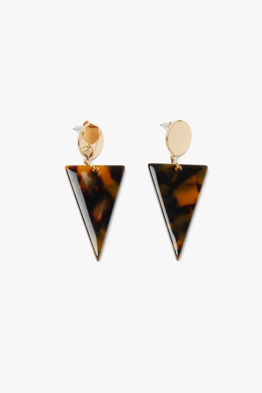 geo resin earring