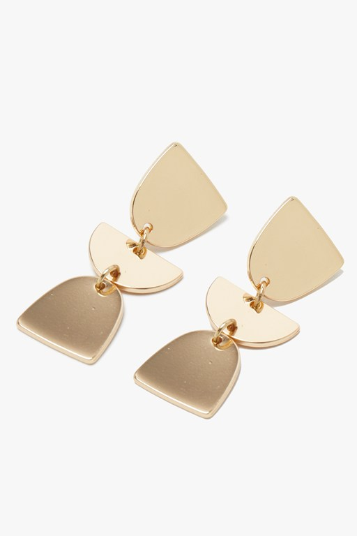 Complete the Look Triple Shape Drop Earrings