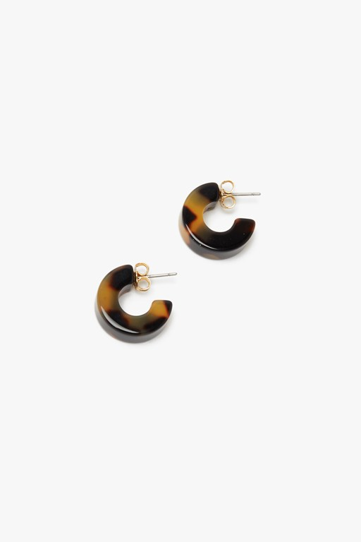 Complete the Look Tort Resin Hoop Earring