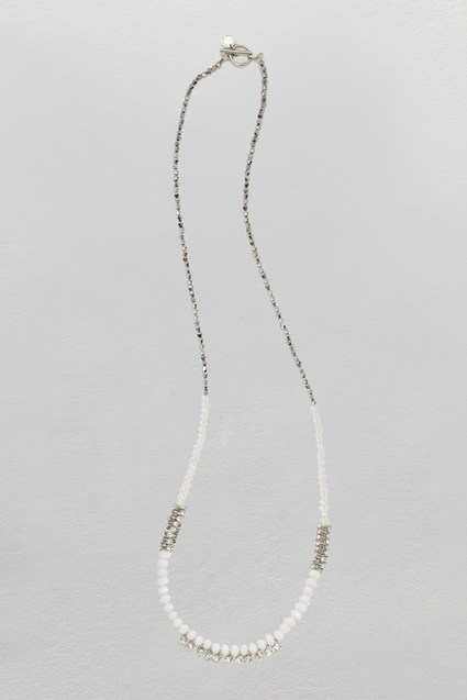 Faceted Bead & Stone Necklace