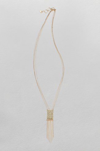 Mesh & Chain Cascade Necklace