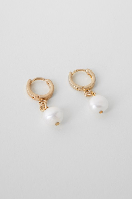 Complete the Look Pearl Huggie Earrings