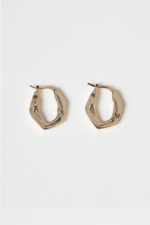 Complete the Look Molten Metal Hoop Earring