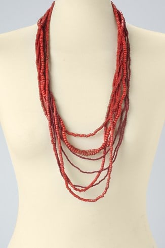 Wood & Seed Bead Mixed Rope