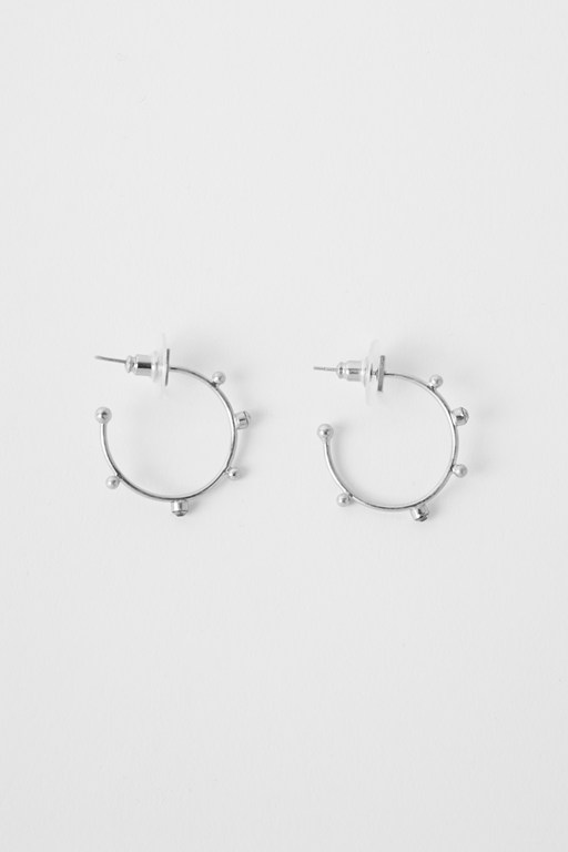 Complete the Look Studded Hoop Earrings