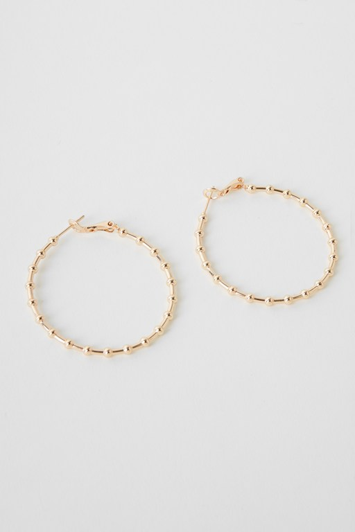 Complete the Look Studded Hoop Large Earrings