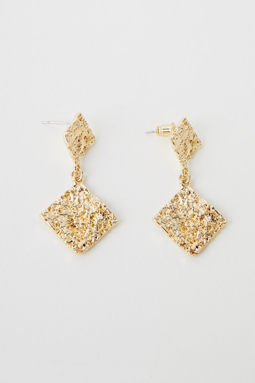 double square molten earrings