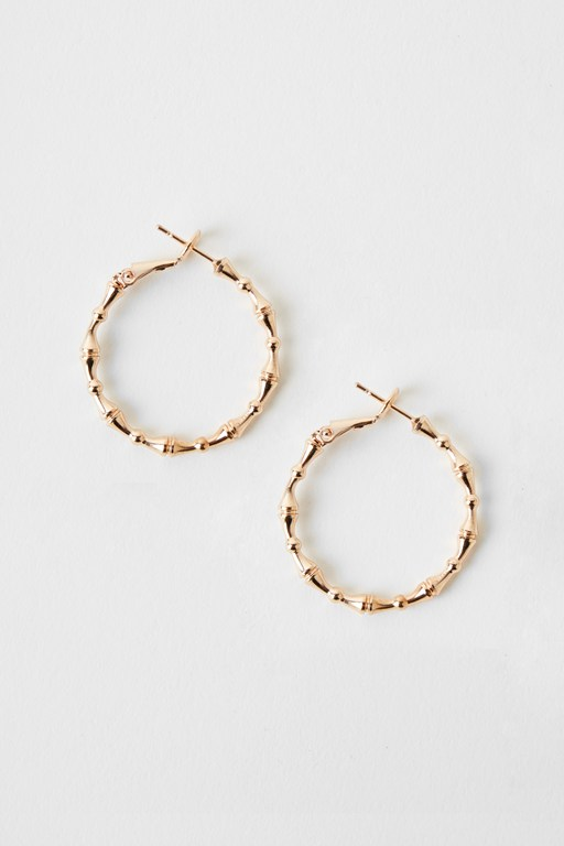 Complete the Look Bamboo Hoop Earrings