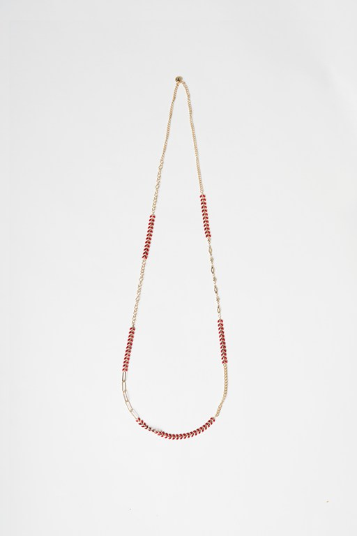 enamel fishtail necklace