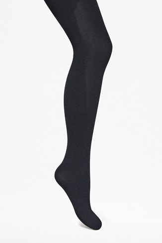 Two-Tone Textured Tights