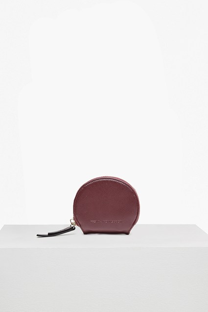Super Zip Faux Leather Coin Purse