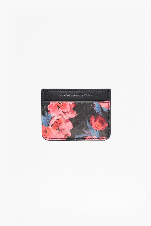 printed saffiano selina card holder