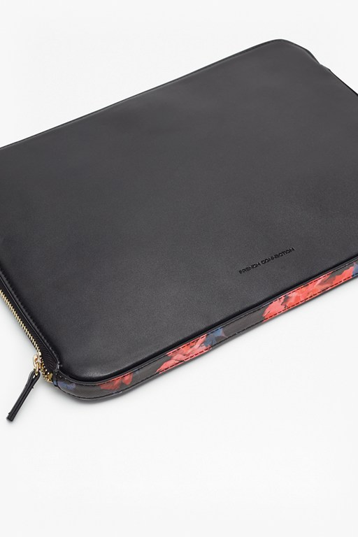printed saffiano marta laptop case