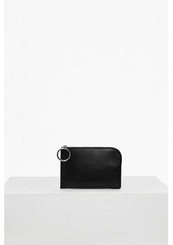 Oversized Buckle Solid Wallet