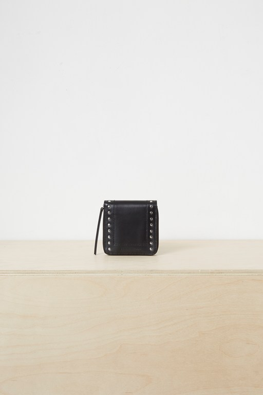 polly studded leather wallet