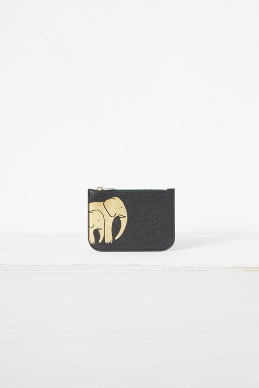 elephant recycled leather charity coin purse