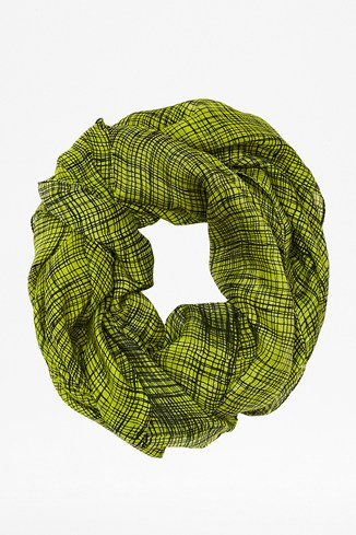 Texture Checked Silk Scarf