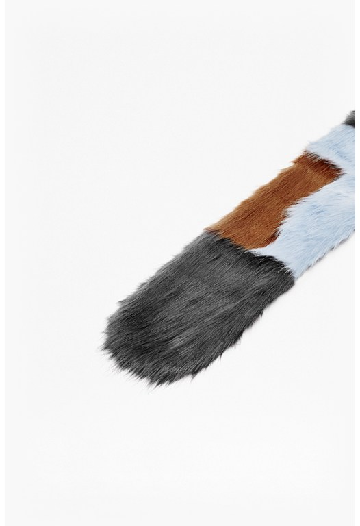 Colour Block Faux Fur Stole