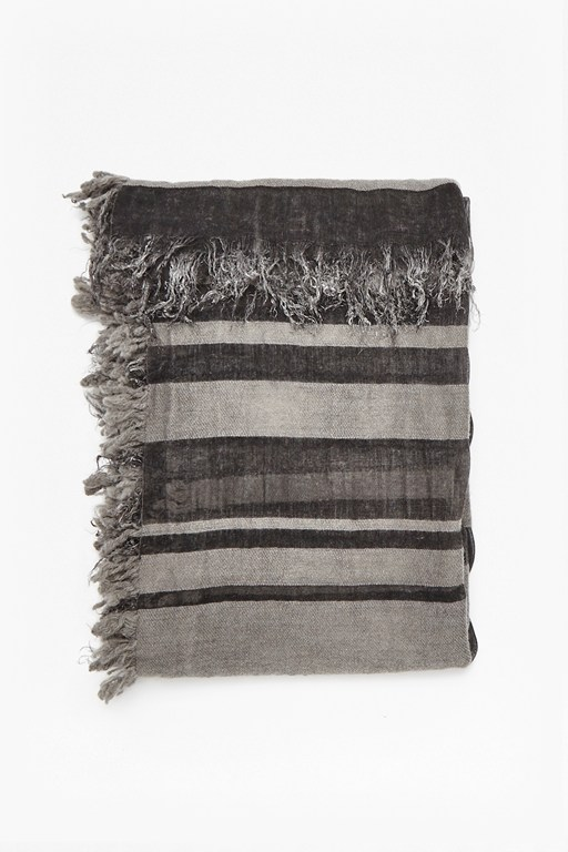 lisa stripe wool and cashmere scarf