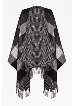 Double Faced Woven Check Cape
