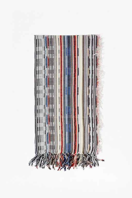 multi staggered stripe scarf