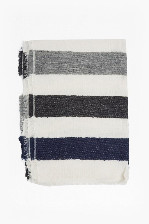 philomena striped scarf