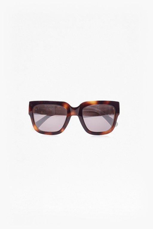 flat top tortoiseshell look sunglasses