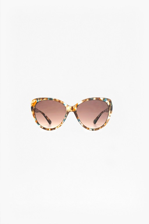 stepped detail cat eye sunglasses